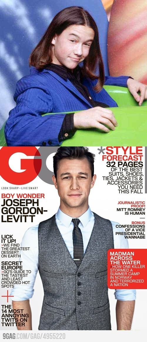 Thank god for puberty. His GQ suit is fab, btw.