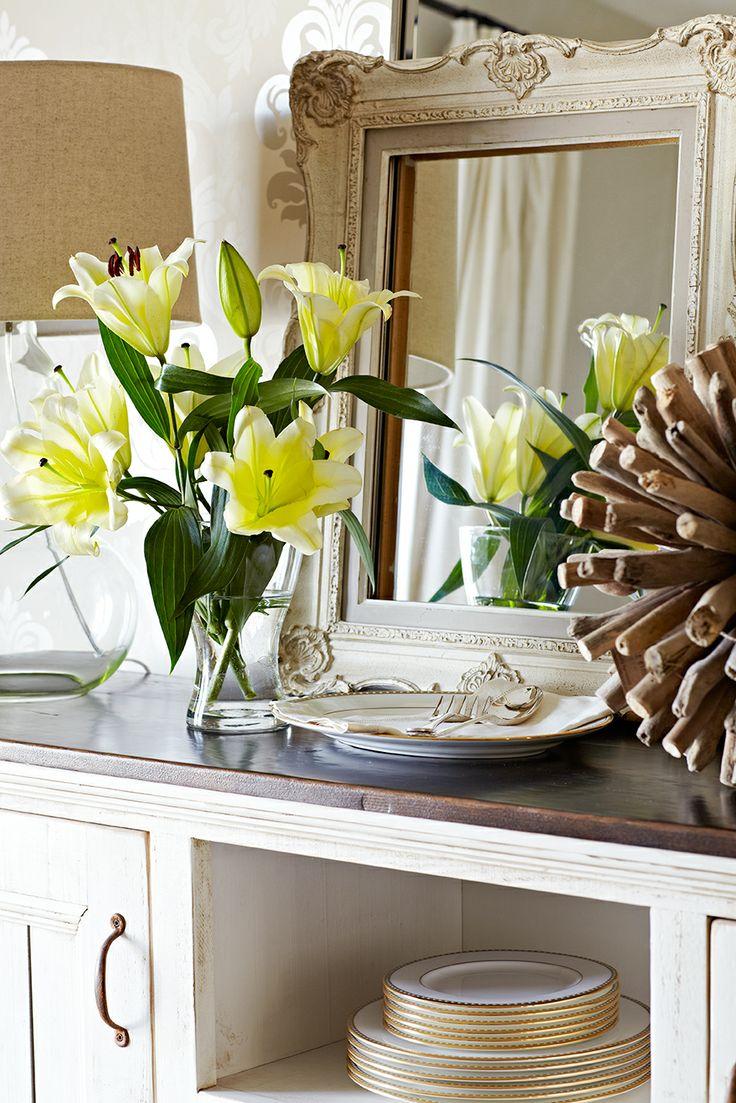 Bingham Ave. Dining Room with fresh flowers--Jennifer Simon Design