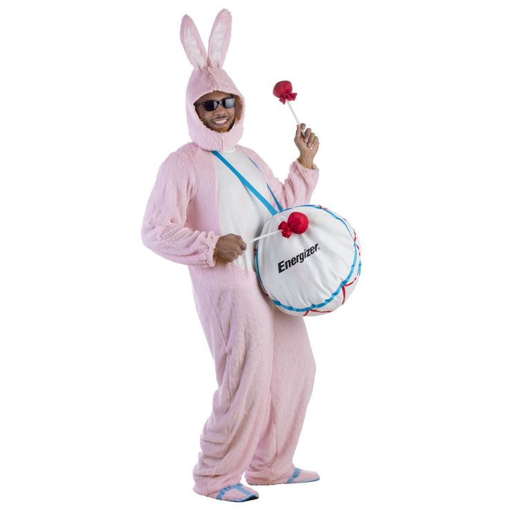 Dress Up America Men's Energizer Bunny Mascot Costume