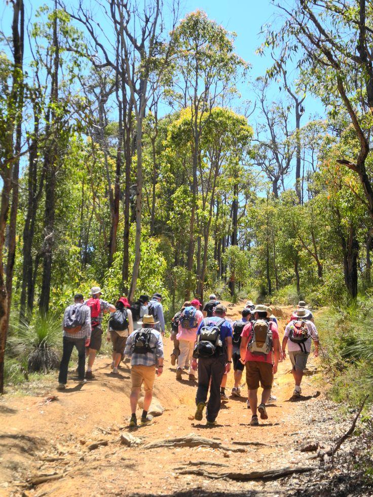 Woodside enjoying the walk - Group Activities on the Bibbulmun Track organised by the Bibbulmun Track Foundation