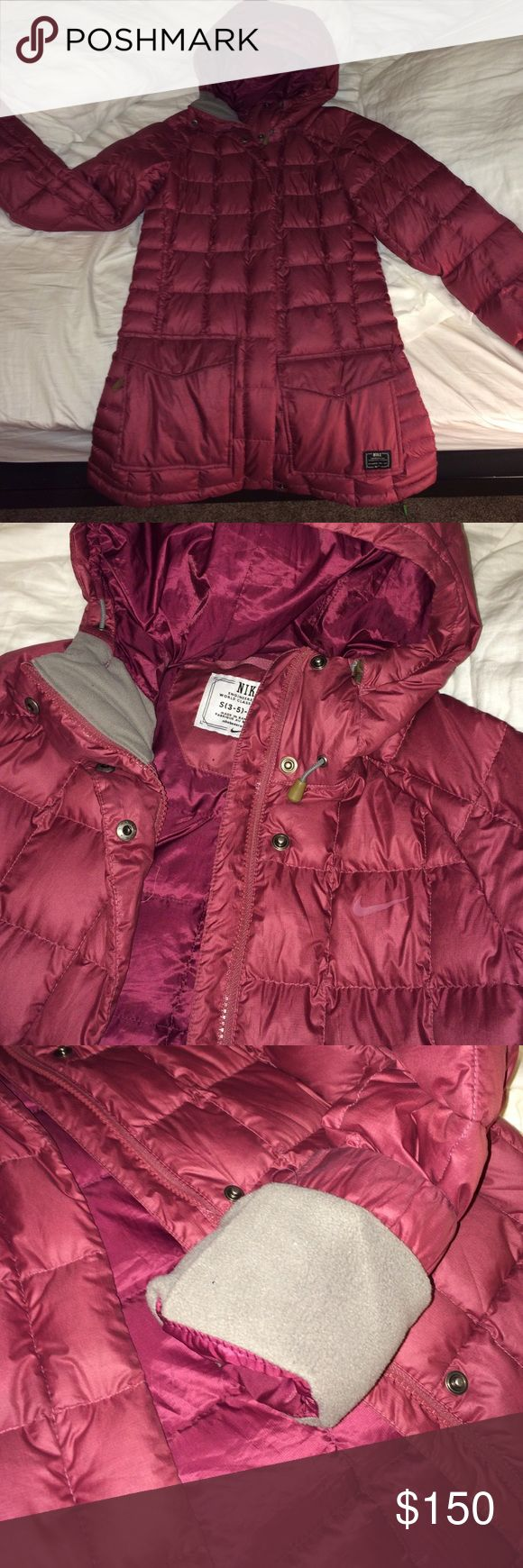 Nike long puffer TRADE or OFFER Super cute, in good condition. Looking to trade for a black nike coat or accepting offers. Nike Jackets & Coats Puffers