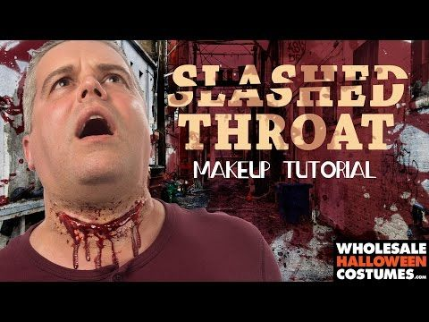 Slit Throat Prosthetic Makeup Tutorial | Wholesale Halloween Costumes Blog