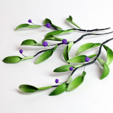 {Nice pre-made Mahonia Berries} Berry Filler Sugarflower cake decorations perfect for cake decorating fondant cakes and wedding cakes. Readymade gumpaste sugarflowers. | CaljavaOnline.com #caljava #gumpaste