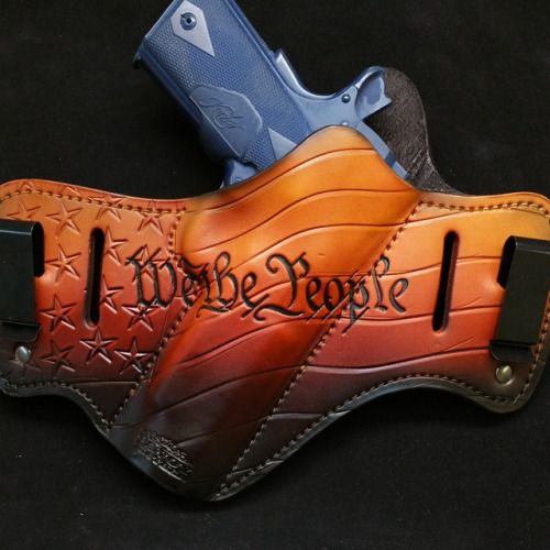 The Freedom Sunrise Savoy custom leather holster is a new color twist on a classic favorite.