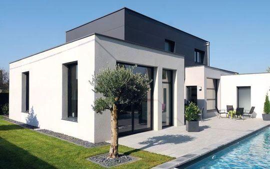 Hausbau modern flachdach  Haus Flachdach | modern anbau. | Pinterest | Flachdach und Häuschen