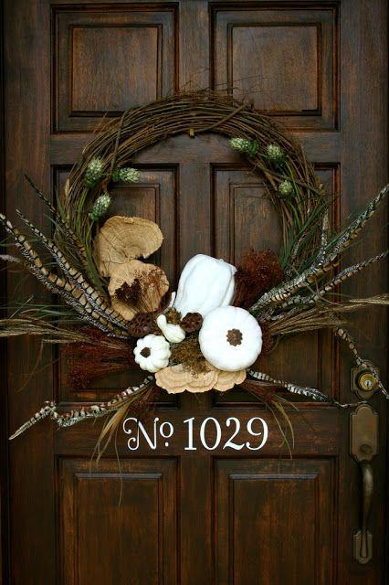 autumn door decorations | Nature Inspired Elegance Fall Door Decor Wreath