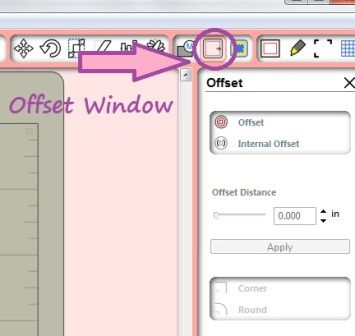 HOW TO USE THE OFFSET WINDOW TO MAKE CUT LINES IN SILHOUETTE STUDIO DESIGNER EDITION SOFTWARE