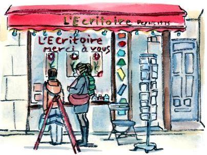 L'Ecritoire, papeterie parisienne originale et indépendante depuis 1975.