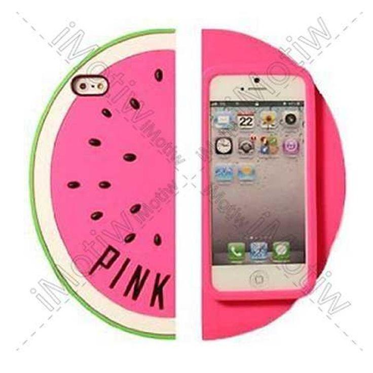 iPhone 5 / 5S Victoria's Secret Pink Karpuz Silikon Arka Kapak PEMBE