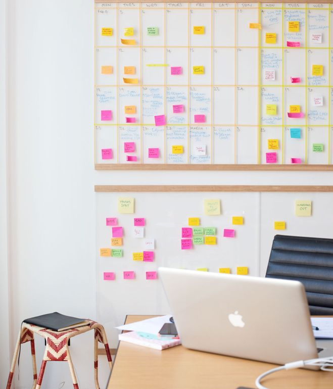 Workspace of design blogger Lucy Feagins via Dwell