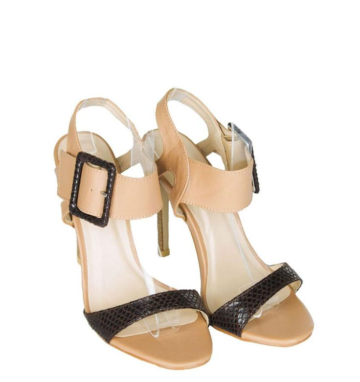 Sandale Dama Flight Mode  -Sandale dama cu toc  -Detaliu catarama lata  -Toc 12cm