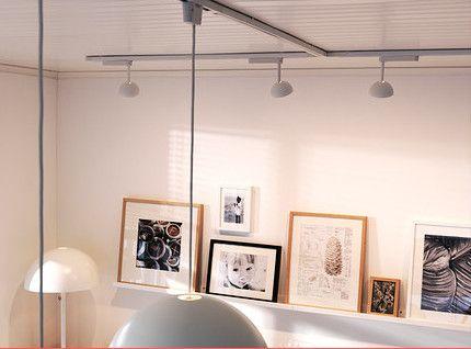 39 best eclairage sur rail plafond spot suspension plafonnier images on pinterest. Black Bedroom Furniture Sets. Home Design Ideas