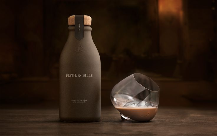"Brand Identity for Flygl & Bille by Kind ""Kind is behind the concept development, name and visual identity for 'Flygl & Bille', an exclusive brand of cream, coffee and aquavit-based liqueur that is both medicine and nectar for refined palates. 'Flygl..."