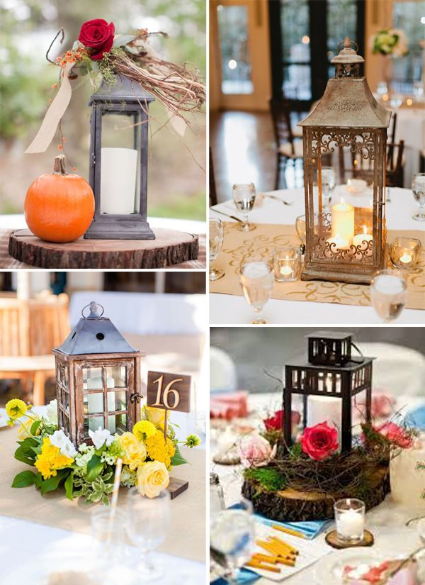 Ideas about rustic lantern centerpieces on pinterest
