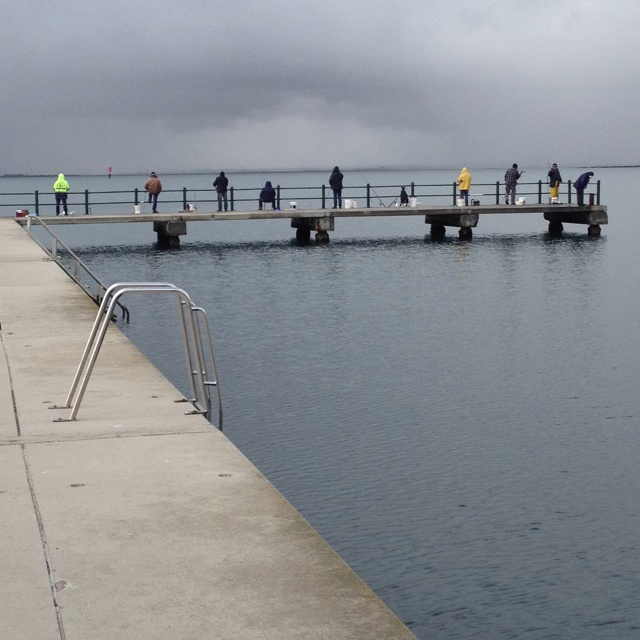 Fishing at St Helen's on Corio Bay
