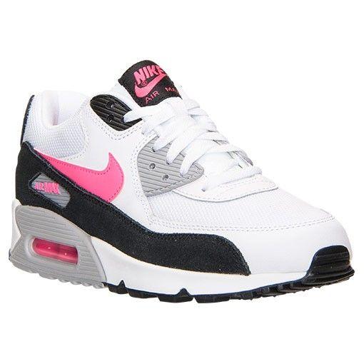 Nike Air Max 90 Essential White/Black/Wolf Grey/Hyper Pink via MFancy