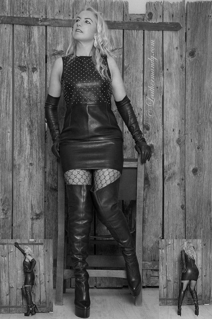 Ladies in Leather on in 2019 Leather boots Leather