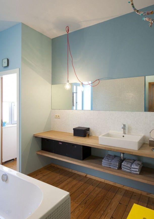 les 25 meilleures id es de la cat gorie bain bleu sur pinterest salles de bains bleues et. Black Bedroom Furniture Sets. Home Design Ideas