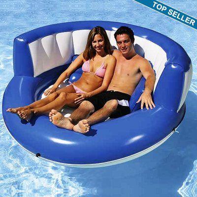 Cuddle Island Pool Float: Poolmast Cuddling, Pools Time, Cuddling Islands, Pools Fun, Gifts Ideas, Pools Floating, Islands Inflatable, Inflatable Pools, Summer Fun
