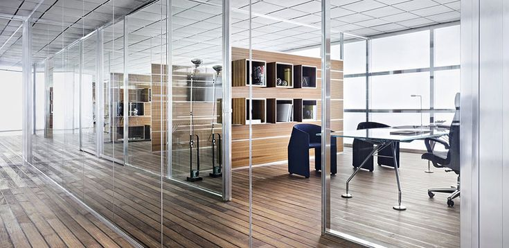 W80 glass partition wall system - Tecno Italy