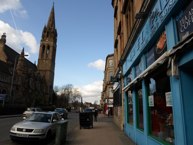 Glasgow West End... The place to live.  Mi nuevo barrio en Escocia (abril 2013)