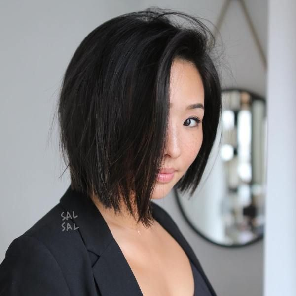 Asian Short Hair Round Face In 2020 Round Face Haircuts Bob Haircut For Round Face Hairstyles For Round Faces