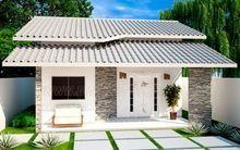 Projetar Casas | Projeto de sobrado com 2 quartos e 1 suíte, cozinha americana e varanda gourmet – Cód 36