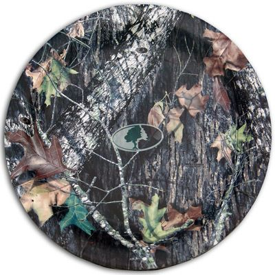 Mossy Oak Plates. If you do a camo theme for your wedding  these would be cool