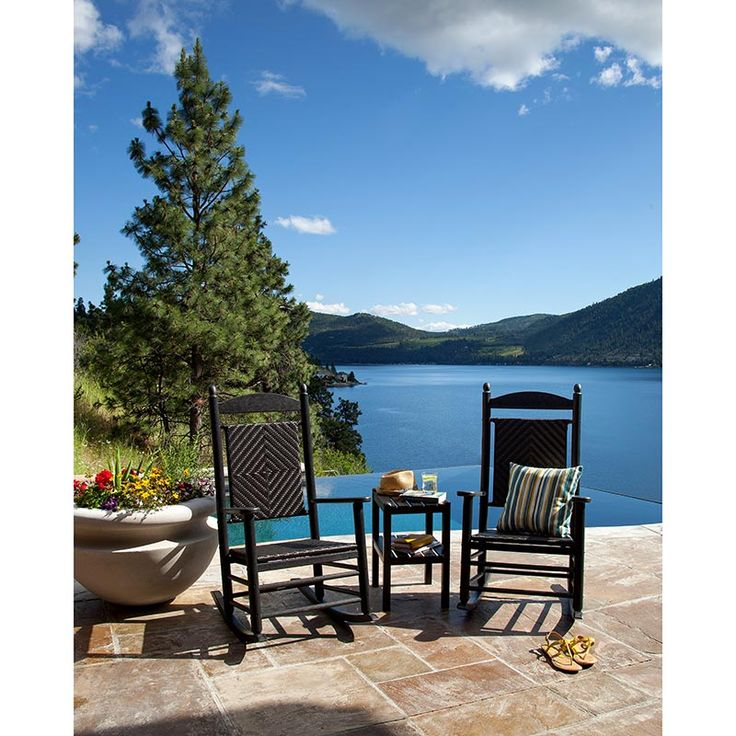 Lovely POLYWOOD Jefferson Outdoor Rocker, Plastic Wicker Seat U0026 Back, American Made  Available At Vermont