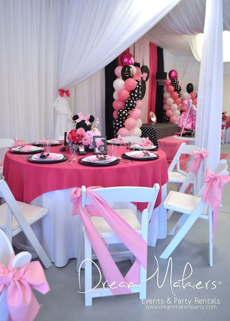 Minnie Mouse Polka dots Birthday Party decorations!  See more party ideas at CatchMyParty.com!
