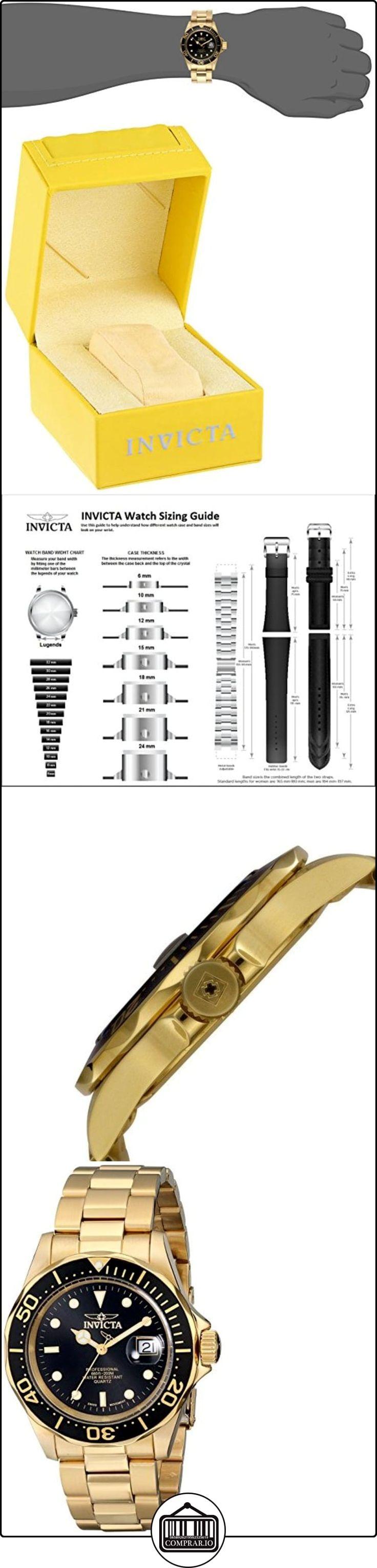 Invicta 9311 - Reloj unisex color negro / dorado  ✿ Relojes para hombre - (Gama media/alta) ✿ ▬► Ver oferta: http://comprar.io/goto/B0009P672Q