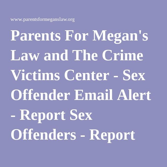 Megans law sex offenders list