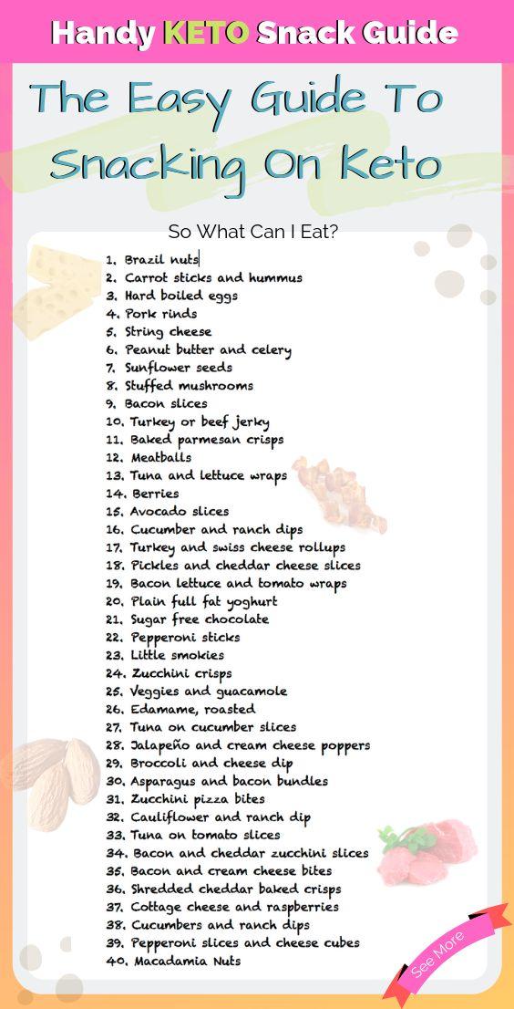 Keto Diet Plan: Handy Keto Snack Guide