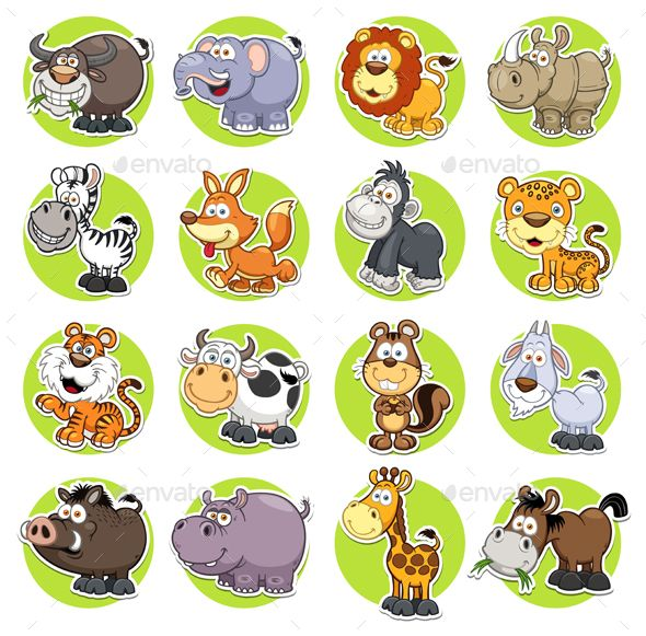 Vector illustration of Animals set Cartoon EPS