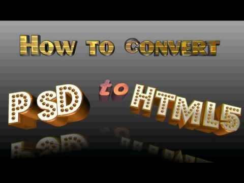 How to Convert PSD to HTML5 in just 5 steps