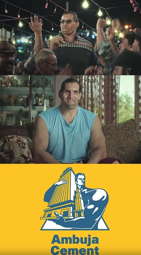 Ambuja Cement Giant Strength For The Giant The Great Khali Dalip Singh Rana. Virat compressive strength, Ambuja cement.