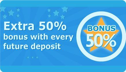 That's right! Not only do you get £15 Free on your first deposit of £10, but you'll also get a 50% on all future deposits - what can go wrong with all that free money?!