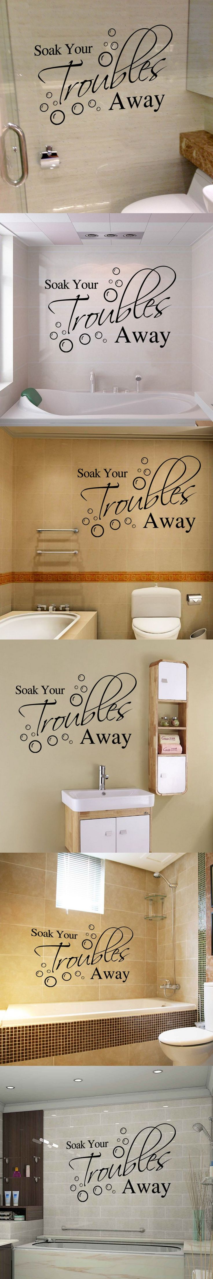Wall Writing Decor 17 Best Ideas About Bathroom Wall Decals On Pinterest Bathroom