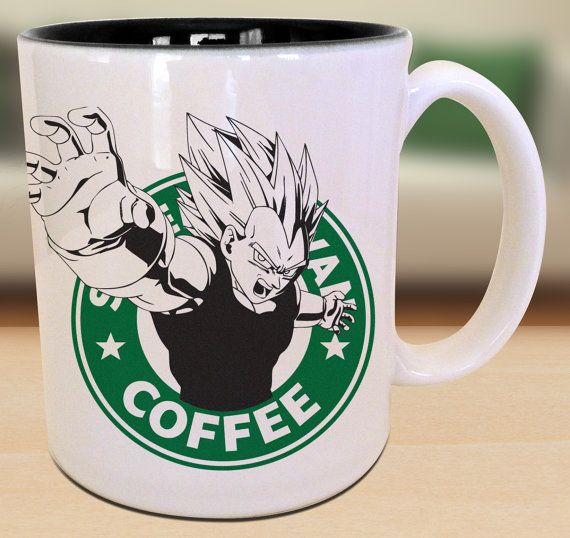 Vegeta Dragon Ball Z Starbucks Anime Manga Japanese Cartoon Art Inspired Geek Nerd Gamer Mug