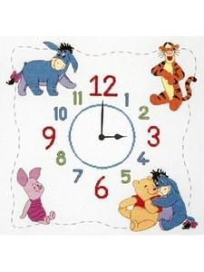 Winnie The Pooh clock cross-stitch kit. £23