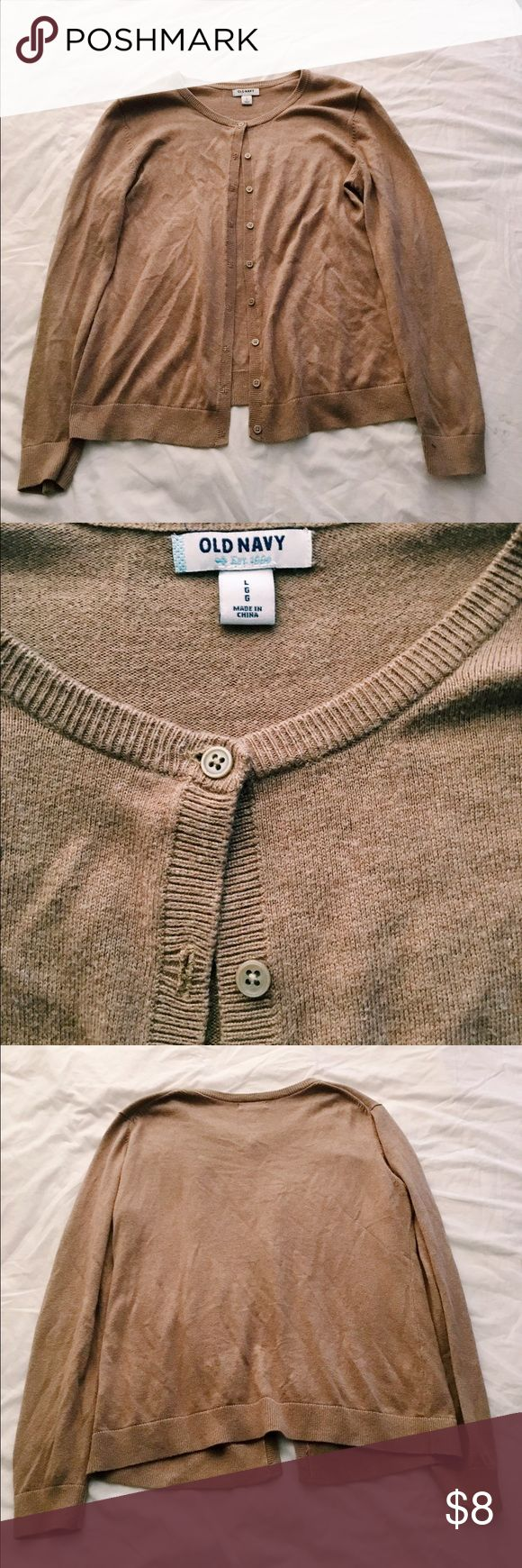 Tan cardigan Comfortable and stylish cardigan that goes great with any outfit! Only worn a few times. Sweaters Cardigans