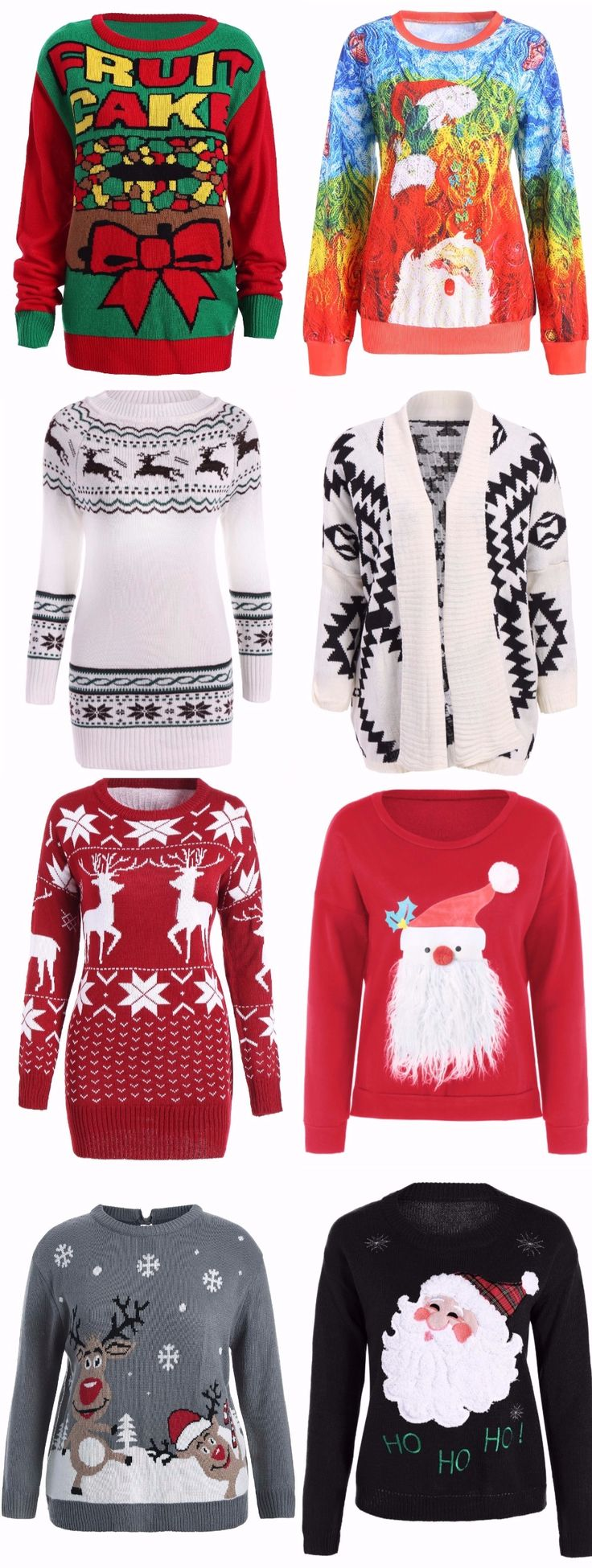 100+ Awesome Ugly Christmas Sweaters   Start at $10   Coupon Code: SDPS   DIY Christmas   DIY Sweaters   Merry Christmas   Happy New Year   Party Outfit   Sammydress.com