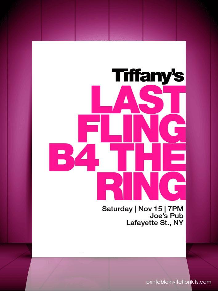 Last Fling Before the Ring u2013 Bridal