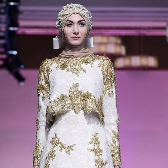 """""""I want to bring the Indonesian name to the fashion world, and use my clothes to introduce people to the different and diverse parts of Indonesia,"""" Hasibuan told The Jakarta Post.  48 looks went down the runway and at the end, Hasibuan was given a standing ovation–a rare sight at fashion week. Not bad for a one-year-old brand."""