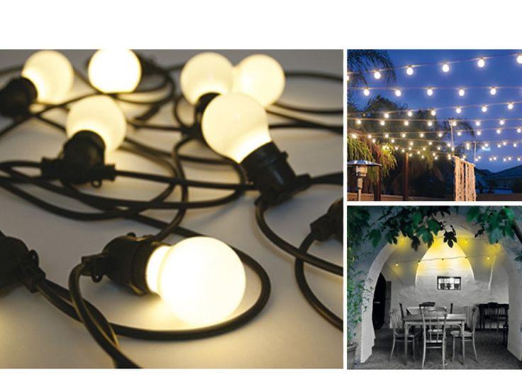 Seletti bella vista set 10 luci a led da giardino cavo - Cavo con lampadine da esterno ...