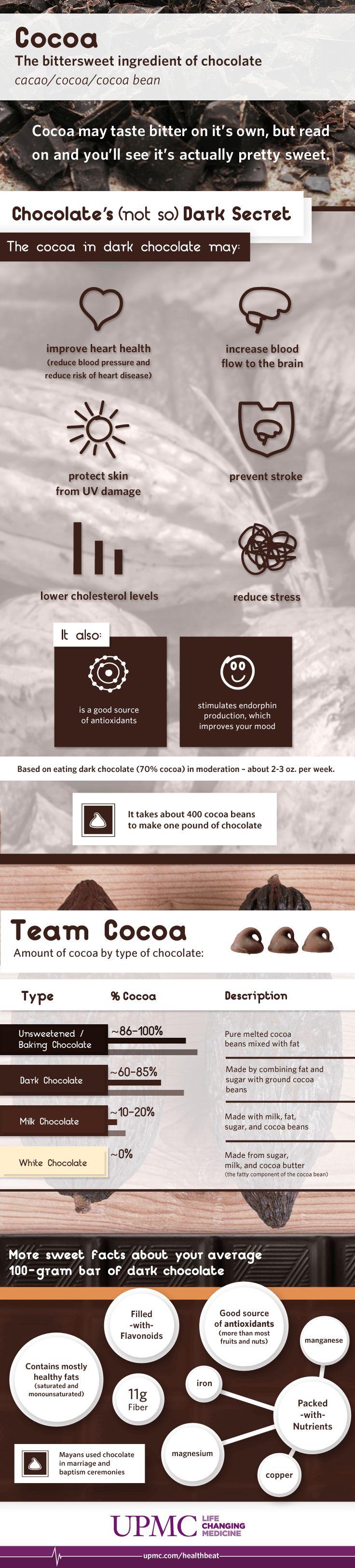 164 best Dark Chocolate Health Benefits images on Pinterest