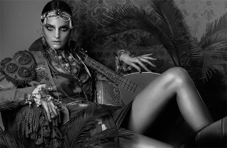 Gertrud Hegelund Models Indian Inspired Fashions for French Revue #22 by Signe Vilstrup | Fashion Gone Rogue: The Latest in Editorials and Campaigns