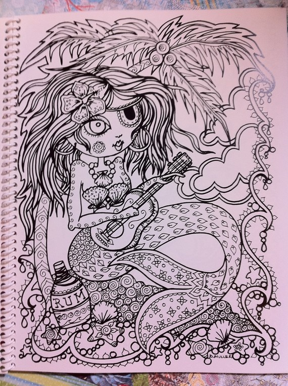 Naughty pirate mermaids coloring book for you to color Coloring book for adults naughty coloring edition