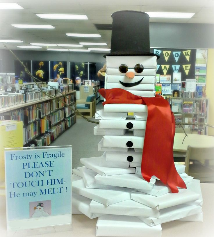 How To Make A Book Snowmanu2014perfect Holiday.winter/Christmas Display For  Libraries, Bookstores, And Classrooms!