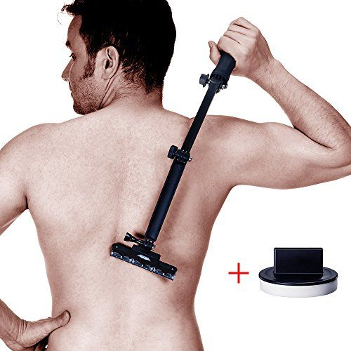 SALE PRICE - $29.99 - Back shaver, body grooming kit for back hair removal Do it yourself with body hair shaver 2nd generation ( 5 Blades Per Count )